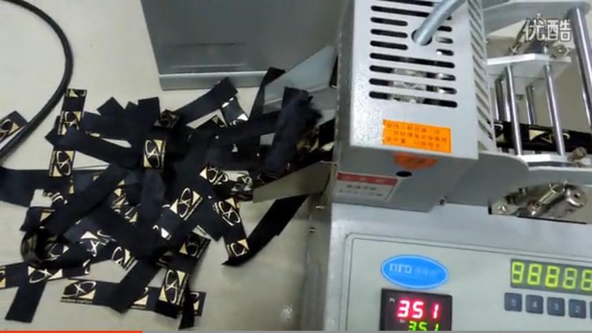 视频: 织带切带机 缎带切带机 松紧带切带机现场操作裁切视频
